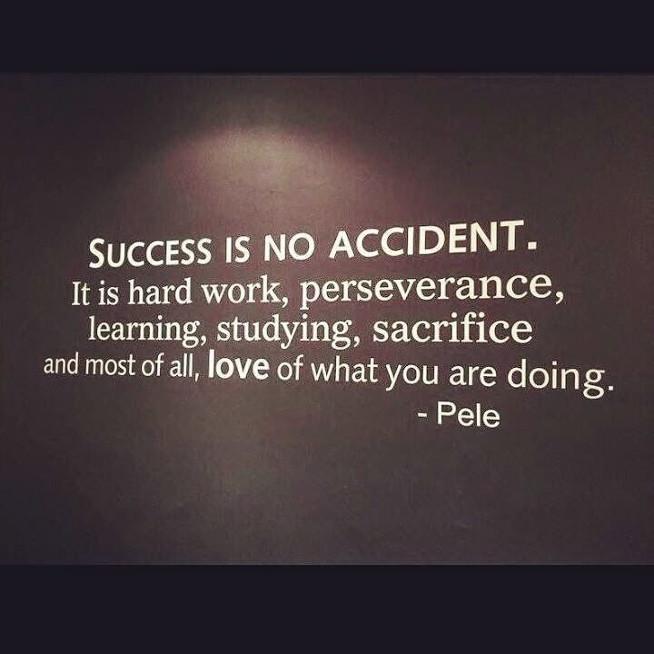 "Motivational Quotes About Success: ""Success Is No Accident. It Is Hard Work, Perseverance"
