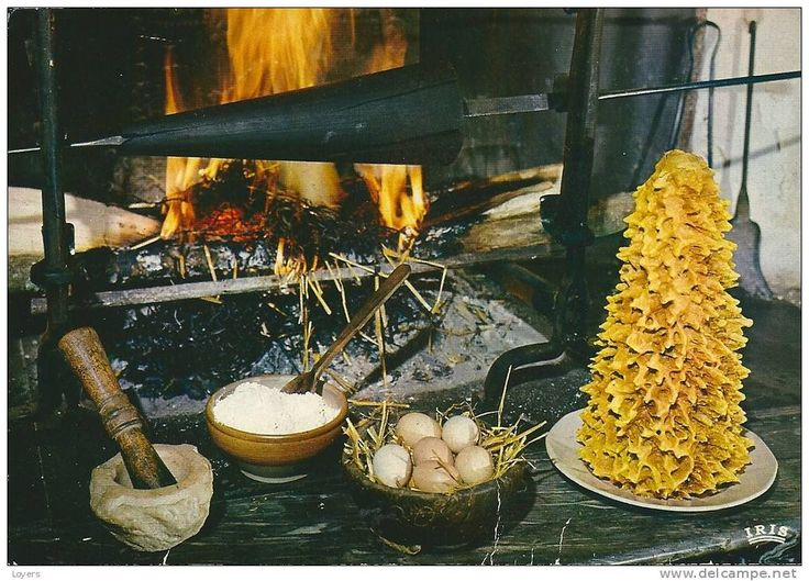 Il gâteau à la broche, un dolce allo spiedo Guida gastronomia, vacanze e weekend degli Alti Pirenei Recette de cuisine 'Le Gateau à la broche ou Rocher des Pyrénées'