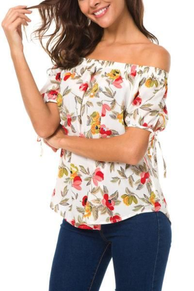 faacb3fe807d Off Shoulder Floral Printed Blouses  blouse  dress  fashion  streetstyle   fashion  style  streetwear