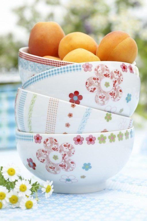* Geschirr für den Garten * Buntes Muster auf Müslischale * Porzellan für die Küche * Overbeck and Friend