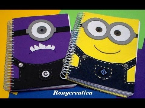 ▶ LIBRETAS DE MINIONS / MINIONS NOTEBOOK DIY - YouTube
