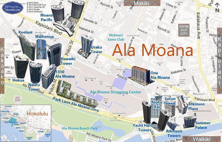 Ala Moana Condos: Honolulu, Hawaii Condo Map