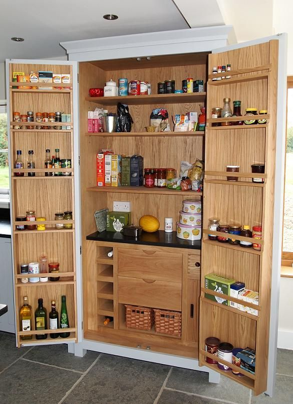 Tall Kitchen Pantry Image Kitchen Larder Freestanding
