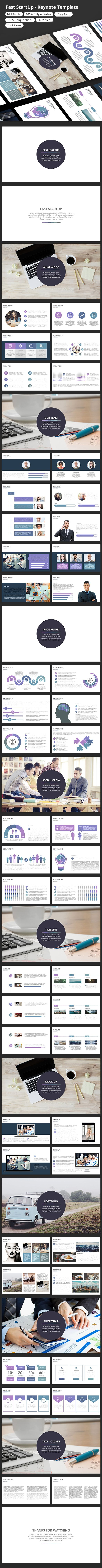 Fast StartUp Keynote Template #keynote #key #infographic #project • Download ➝ https://graphicriver.net/item/fast-startup-keynote-template/18738943?ref=pxcr