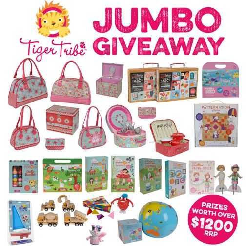 Want to win everything you see in this picture? TWO huge packs are up for grabs and each includes over $600 worth of the newest toys, games & activities from Tiger Tribe. Enter to WIN!