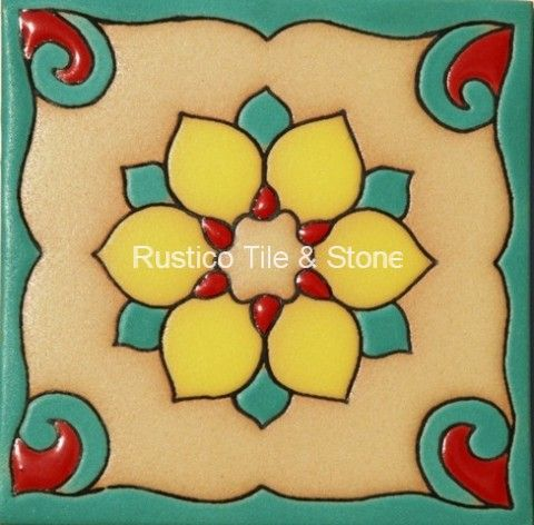 Malibu Field Tile - Ceramic Field Tile - Decorative Talavera