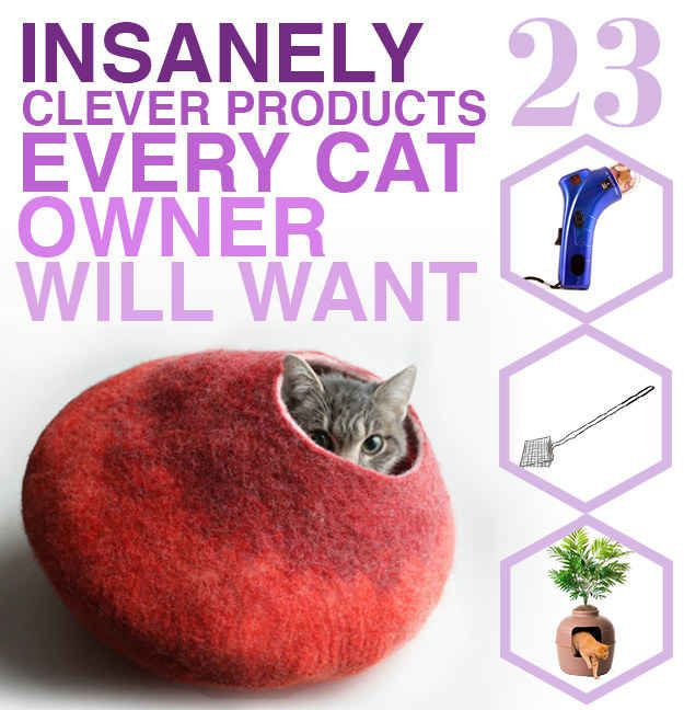 23 Insanely Clever Products Every Cat Owner Will Want | I think I need a cat just so I can buy these things