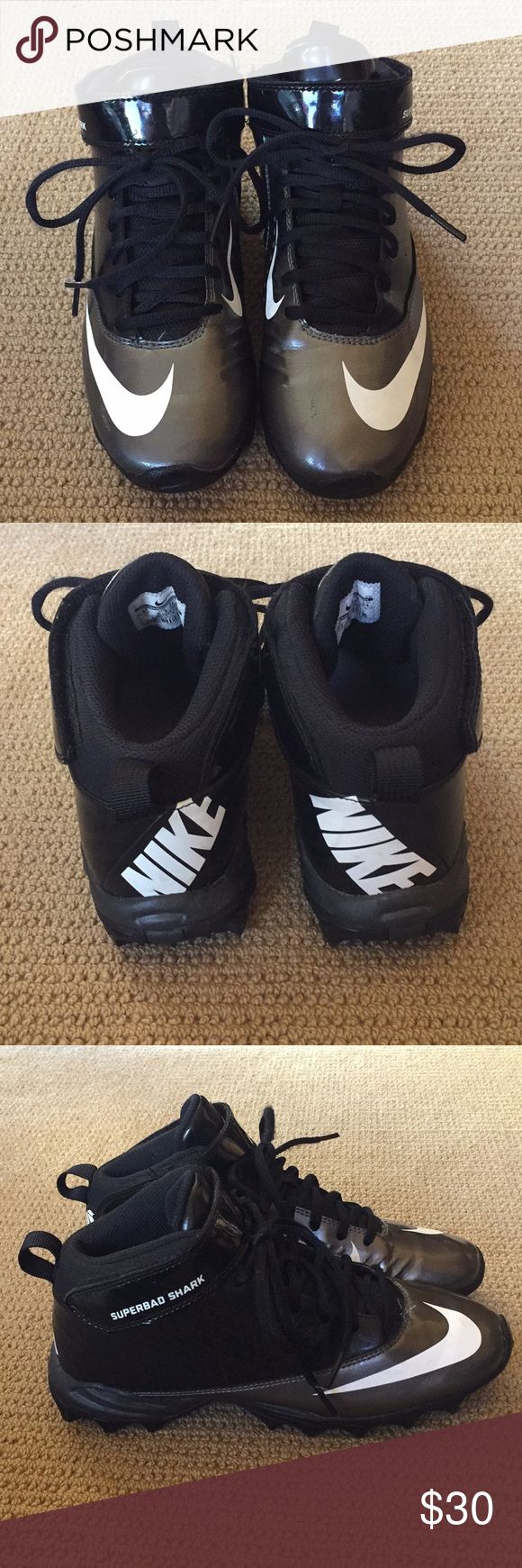 NEW Boys NIKE Superbad Shark football cleats New without tags - never been worn - NIKE Superbad Shark boys football cleats Nike Shoes