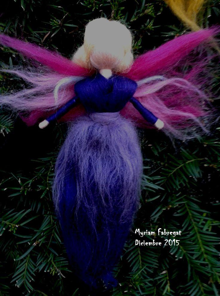 Hada de lana cardada Myriam Fabregat Diciembre 2015