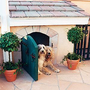 Fun and functional doghouses | Creative doghouse designs | Sunset.com - Not for dogs being kept outside but for dogs with doggie door, as a portal to the house, or while playing outside - great ideas!