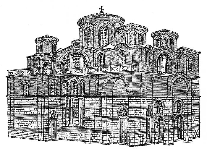 Istanbul, Theotokos of Lips (Fenari Isa Cami), reconstruction view