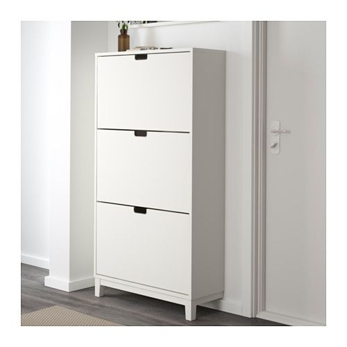 STÄLL Shoe cabinet with 3 compartments from IKEA Helps you organize your shoes and save floor space and time!