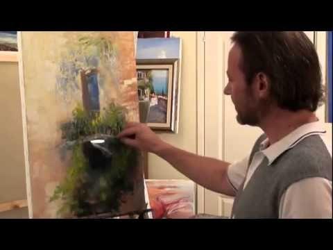 Балкон.Цветы.Игорь Сахаров .Уроки живописи и рисунка.