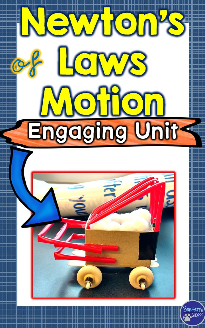 Newton's Laws | Force | Motion | This 72-page physical science unit is used to teach and assess your students when learning about Newton's Laws of Motion. It contains demonstrations, activities, nonfiction packets, anchor charts, review activity, assessment and a STEM activity.