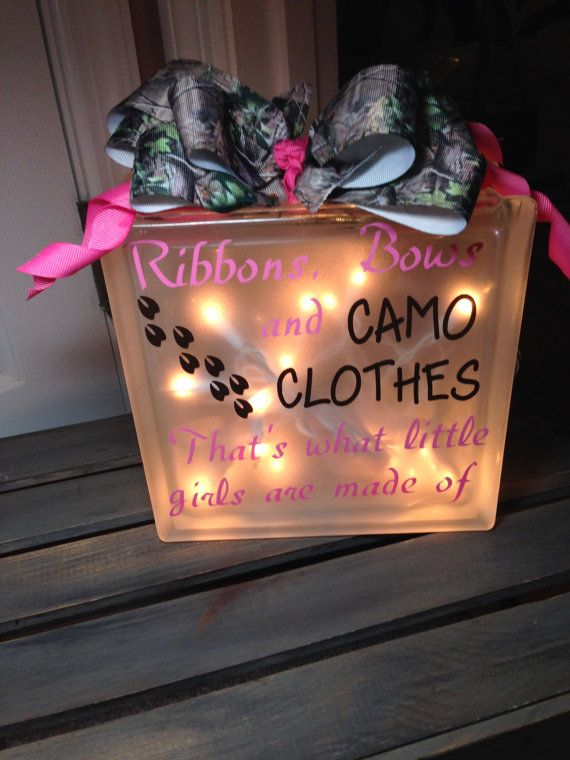 Hey, I found this really awesome Etsy listing at https://www.etsy.com/listing/239528912/camo-baby-night-light-glass-block