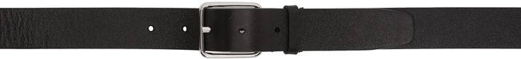 JIL SANDER Black Leather Belt. #jilsander #leather