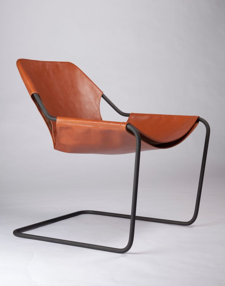Paulistano leather chair by Paulo Mendes da Rocha for Objekto. Designed in 1957
