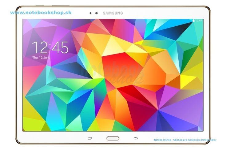 """Samsung Galaxy Tab S 10.5 T800 WiFi - Prémiový tablet s vynikajúcim 10.5"""" Super Amoled displejom. S tabletom GALAXY Tab S budú vaše zážitky pri sledovaní obrazu naozaj výnimočné. Jeho brilantný displej Super AMOLED ponúka vernú reprodukciu farieb, ktorá na rozdiel od LCD displejov s podporou 73% škály farieb Adobe RGB podporuje až 94% jej farieb. Dostupný v bielej a zlatohnedej (bronzovej) farbe."""