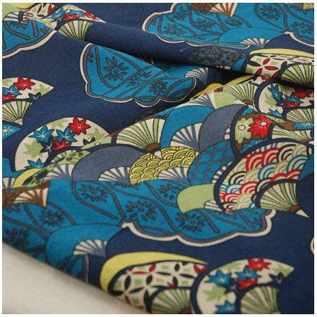Acolchado de Tela Hecha A Mano de BRICOLAJE pintura Mural de Estilo Japonés de Algodón y lino mantel Azul y rojo negro 100*145 cm 1 metros/lote