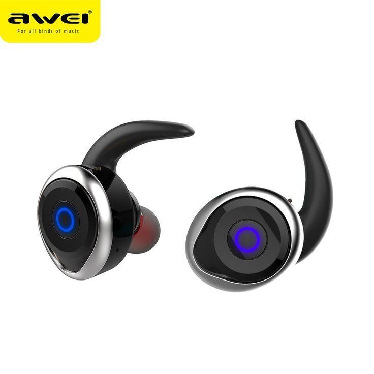 Awei Tws Bluetooth Double Wireless Earbuds V4 2 Headset Wireless Earbuds Bluetooth Earphones Headphones
