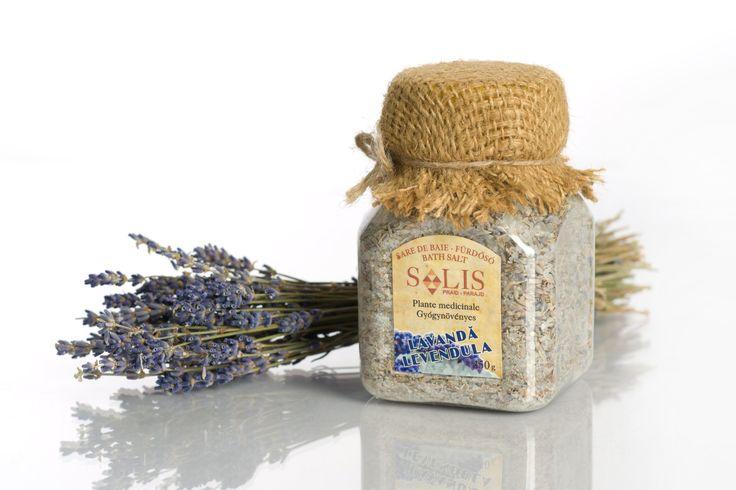 Sare de baie cu plante medicinale LAVANDĂ 450g