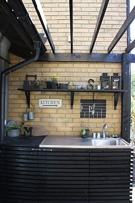 My outdoor kitchen, built by my husband.
