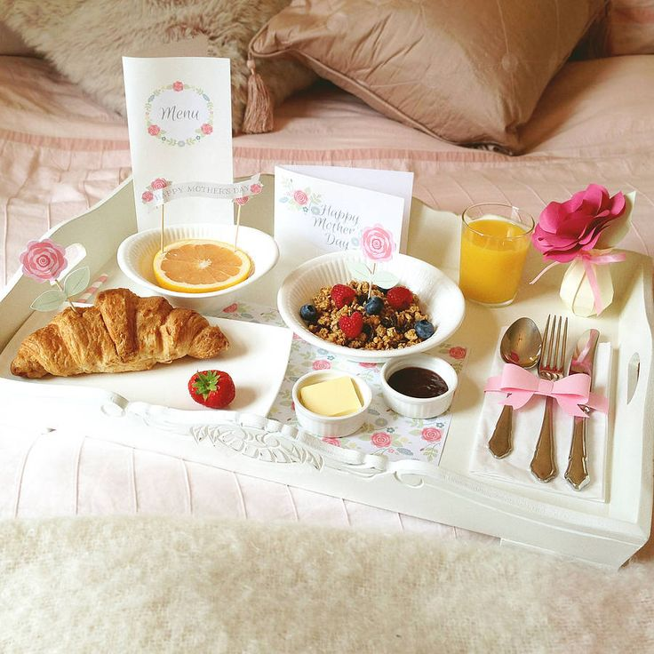 Surprise her with Mother's Day breakfast in bed. #PANDORAloves