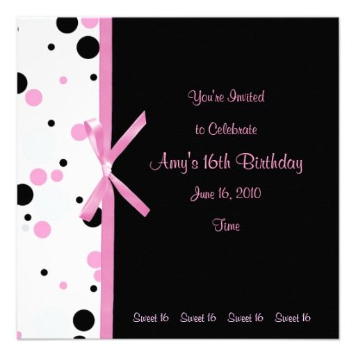 1000+ images about Sweet 16 Invitation Templates on Pinterest ...