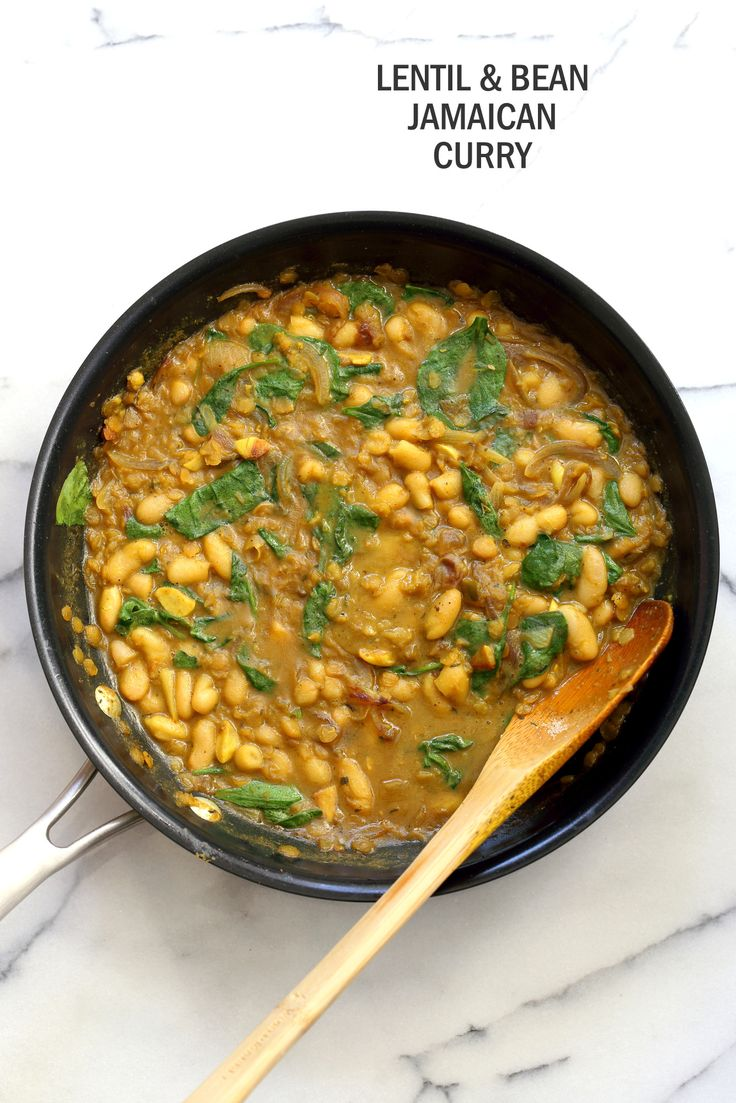Cannellini and Lentil Jamaican Curry – 1 Pot