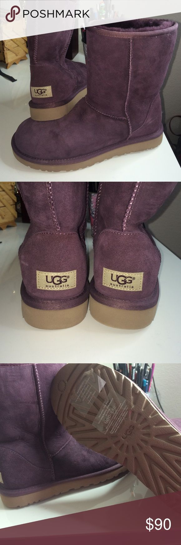 Authentic Ugg boots Never been used authentic Uggs boots beautiful burgundy color perfect for the season. Purchased at Nordstrom don't have the box anymore. Price is firm UGG Shoes Winter & Rain Boots
