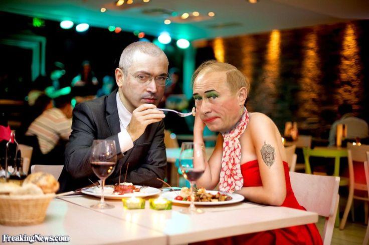 Vladimir Putin Has a Romantic Dinner with Mikhail Khodorkovsky in Switzeland