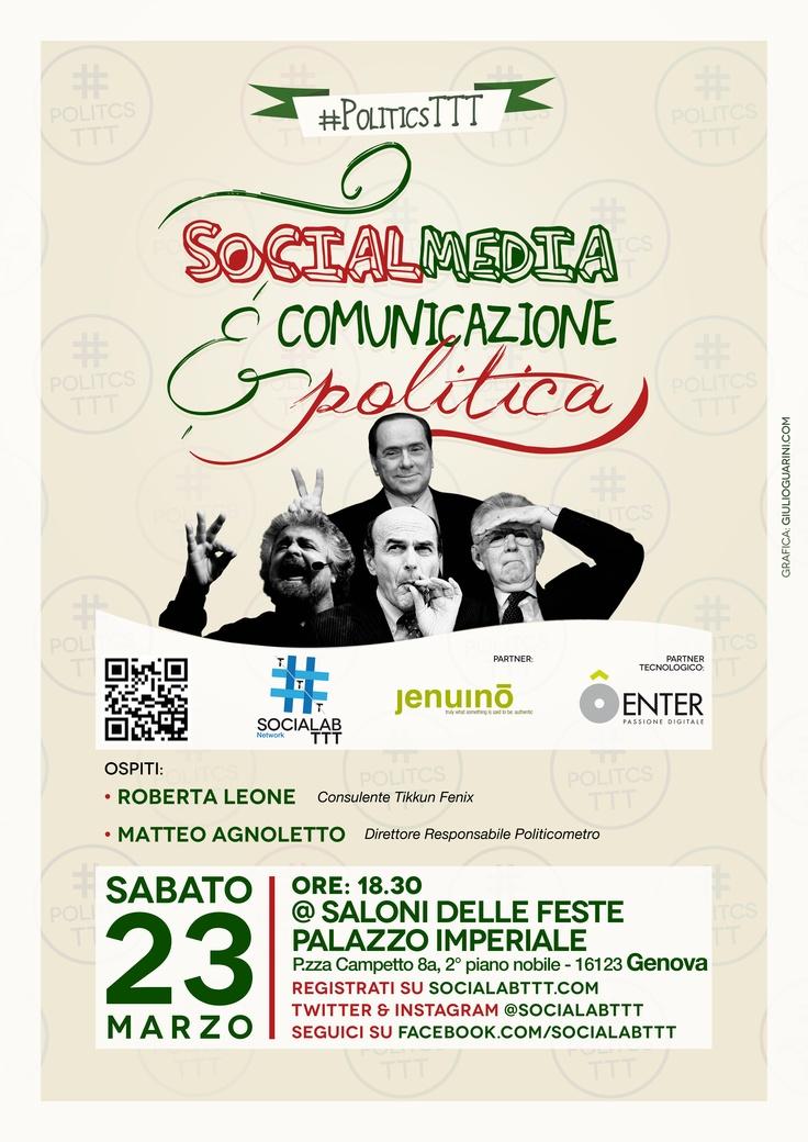 #socialabttt: #PoliticsTTT/GE Social e politica a confronto.