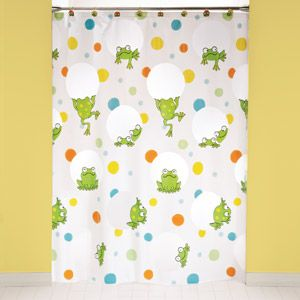 Peeking frogs shower curtain and hook set for my bathroom time for