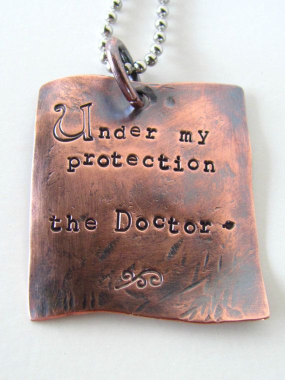 Doctor Who Under My Protection Custom Pendant by stephaniedistler, $32.00