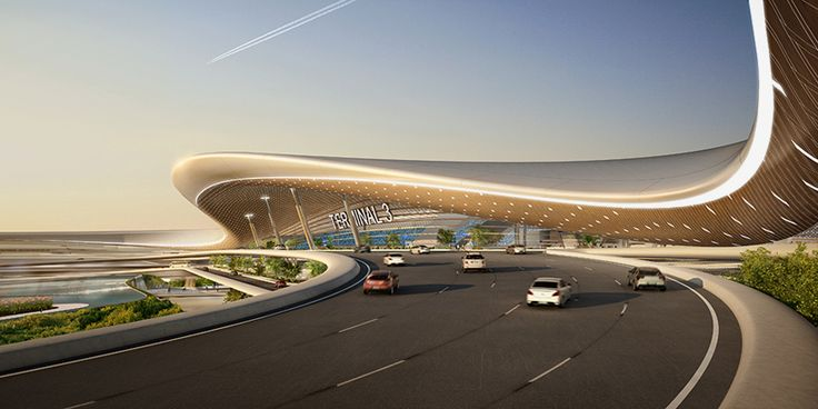 UNStudio unveils proposed terminal design for taiwan taoyuan airport
