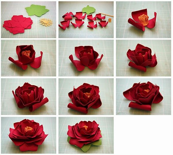 Lots of 3D Paper Flower tutorials