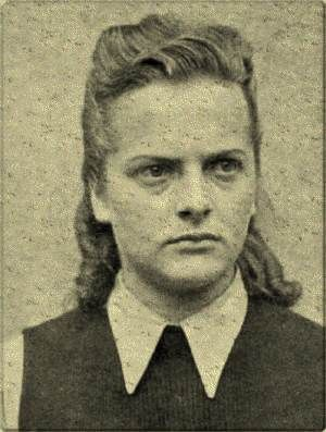 """Another product of the Nazi's final solution, Irma Grese or the """"Bitch of Belsen"""" was a guard at concentration camps Ravensbrück, Auschwitz and Bergen-Belsen. Transferred to Auschwitz in 1943, (she must have shown particular enthusiasm and dedication to the job), she was promoted to Senior Supervisor, the 2nd highest ranking female in camp, by the end of the year. In charge of over 30,000 Jewish female prisoners, she reveled in her work."""
