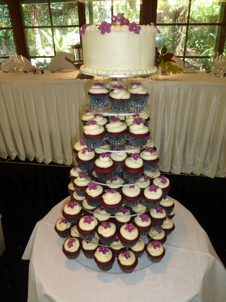 Renee's Wedding Red Velvet Cupcakes.