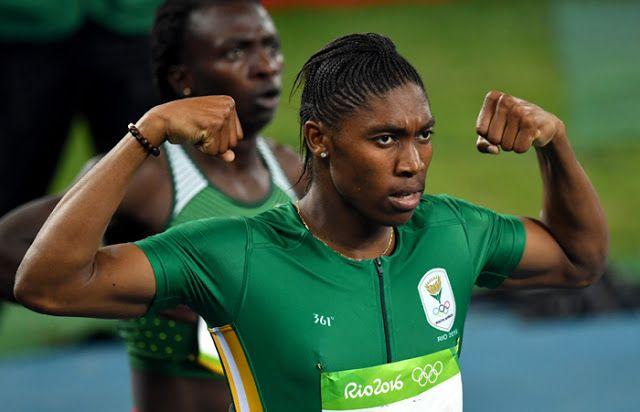 South Africa's Caster Semenya wins gold in 800m race