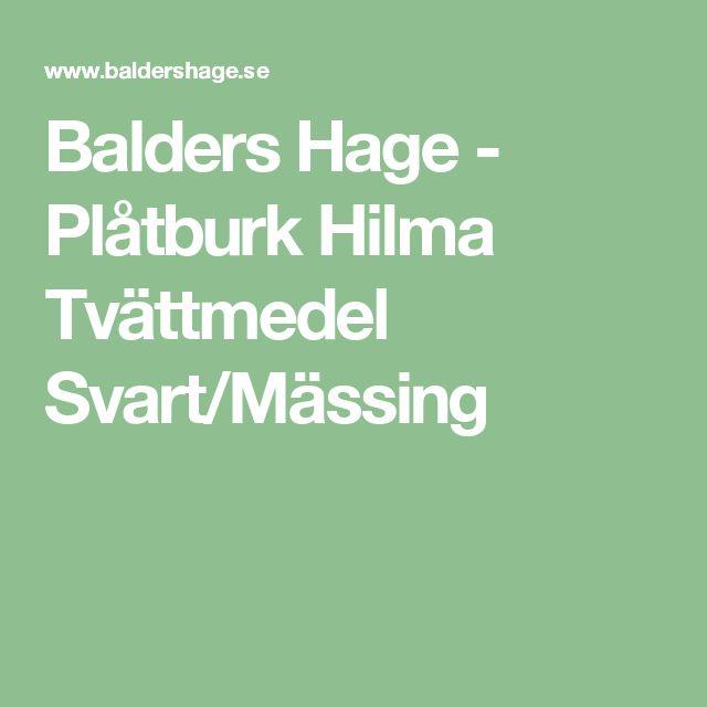 Balders Hage - Plåtburk Hilma Tvättmedel Svart/Mässing