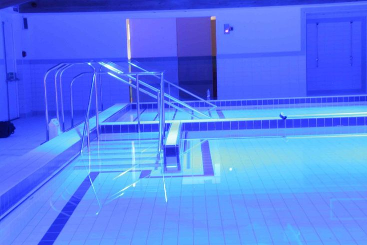 neon blue pool and it's so freakin' cool