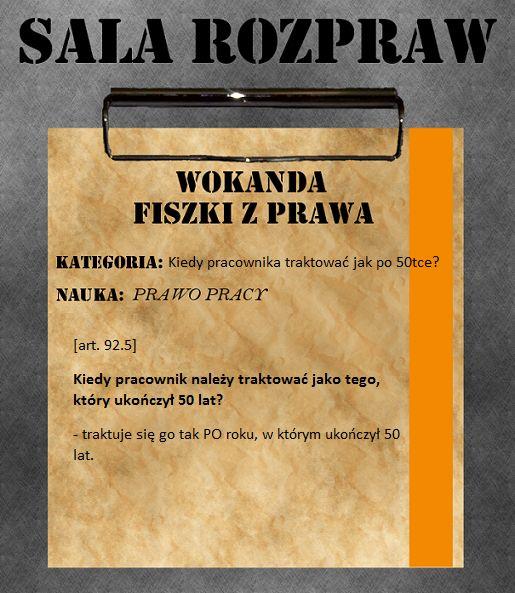 Pracownik 50letni wg KP.