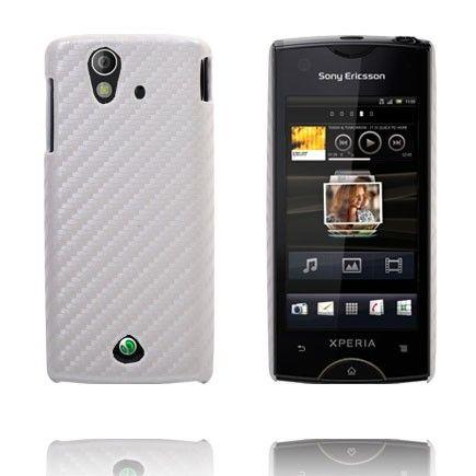 Carbonite (Valkoinen) Sony Ericsson Xperia Ray Suojakuori