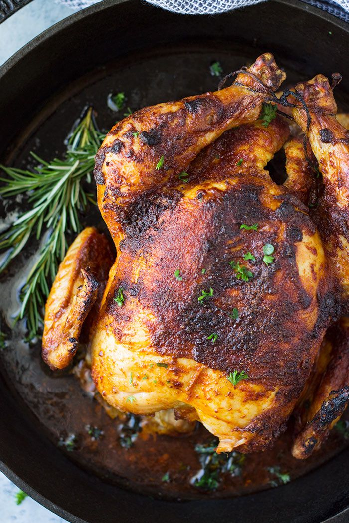 This Homemade Oven Roasted Rotisserie Chicken is super ...