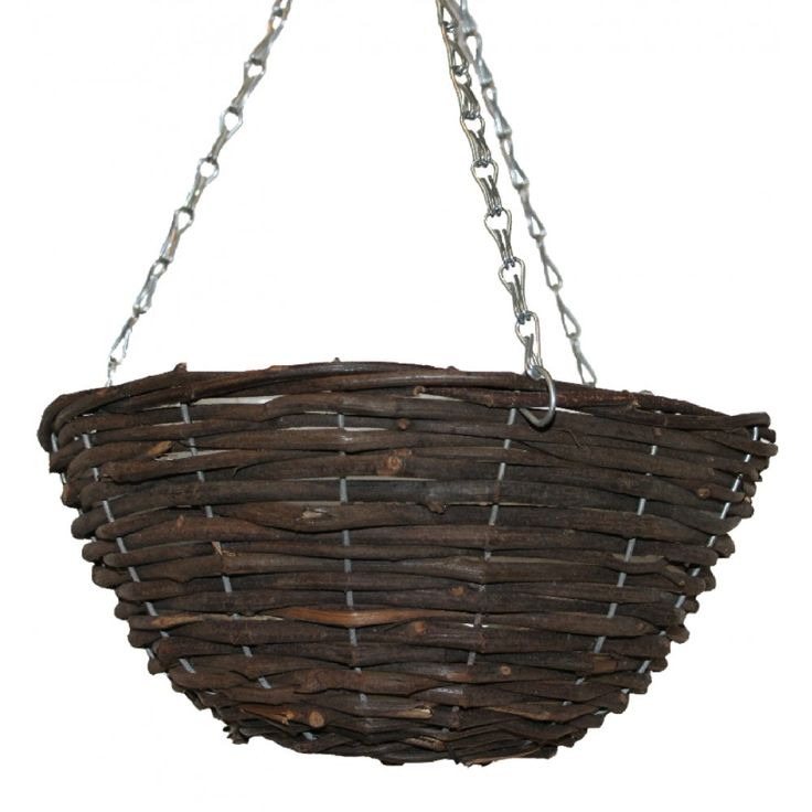 How To Make Round Hanging Flower Baskets : Best images about garden outdoor baskets on