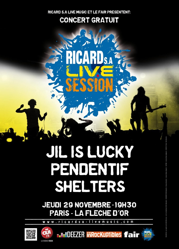 Jil is Lucky at Ricard Live Session 29/11
