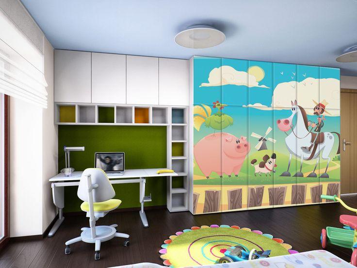 Παιδικό δωμάτιο για Άριστα!  Αυτοκόλλητο Ντουλάπας: http://www.houseart.gr/select_use.php?id=80&pid=10706  #houseart #kidsroom #colors #happy #comic #cartoon #diy