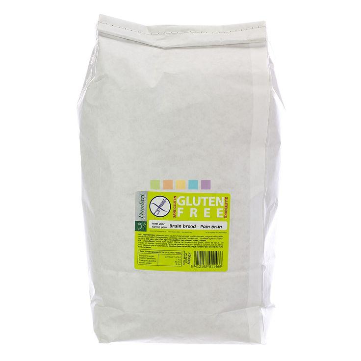 Damhert Broodmix Bruin Glutenvrij: Glutenvrije mix voor bruin brood, gemakkelijk in gebruik, geschikt voor een glutenvrij dieet.