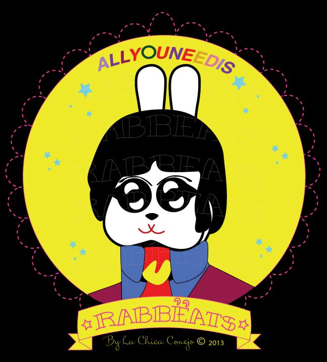 Paul Rabbëat* Yellow Submarine_Special Edition* Rabbëats by La Chica Conejo © 2013 All Rights Reserved #PaulMcartney #yellowsubmarine #poster #totebags #tshirts #rabbeatsbylachicaconejo #rabbeats #specialedition #yellowsubmarine #canyoupasstheacidtest #love #yes #AllYouNeedIsLove #camafeos #cameos #rings #tshirts #personajes #anillos #totebags #rabbeatsbylachicaconejo