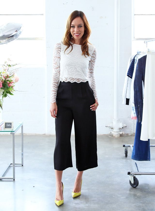 What to Wear to Summer Parties: Black Culottes
